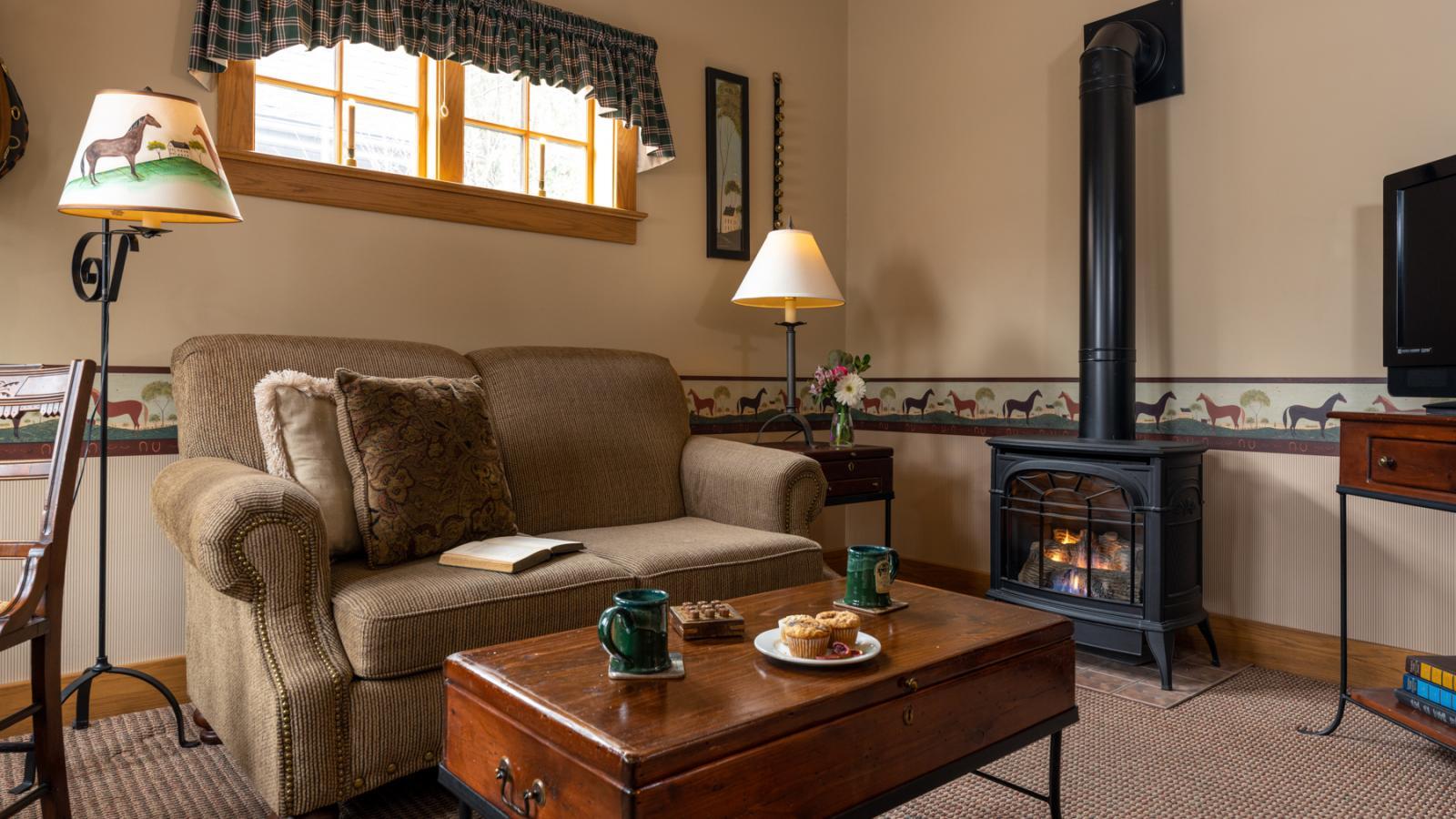 B&B Room with Fireplace