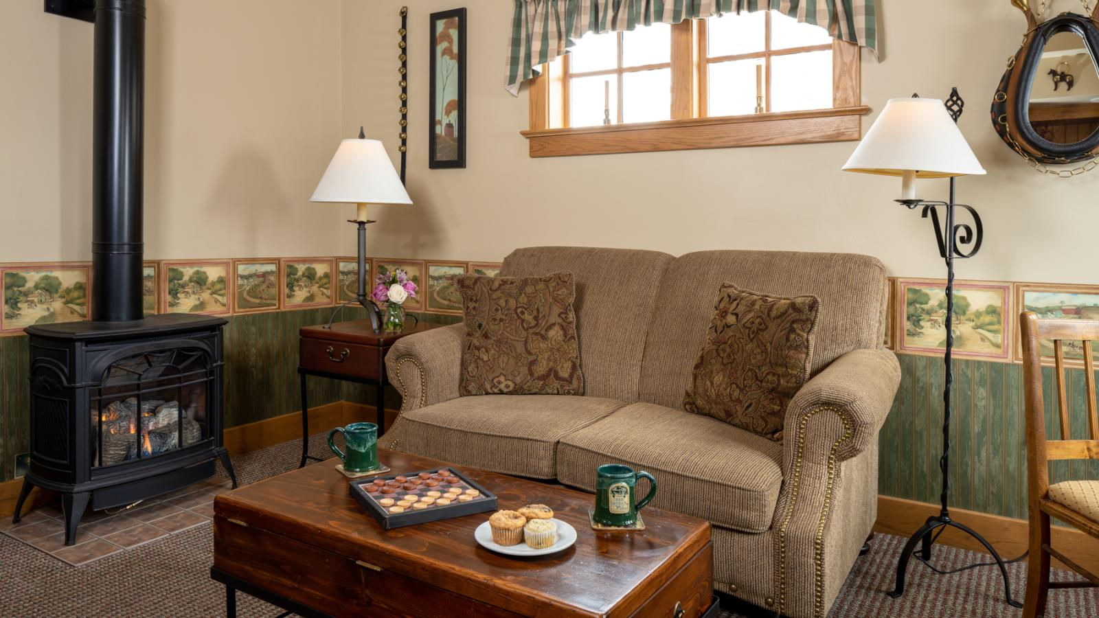 Sitting area in Bed and BReakfast Guest Room